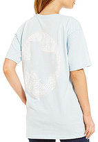 Royce Texas Crochet Oval Short Sleeve Graphic Pocket Tee