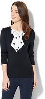 New York & Co. 7th Avenue - V-Neck Twofer Sweater
