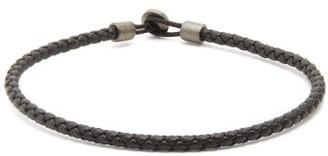 Miansai Nexus Braided-leather Bracelet - Black
