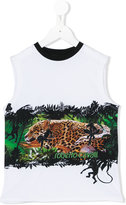 Roberto Cavalli sleeveless printed T-shirt - kids - Cotton/Spandex/Elastane - 4 yrs