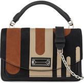 Max Mara Stripe leather cross-body bag