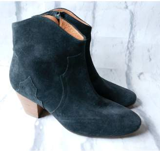 Etoile Isabel Marant Black Suede Ankle boots