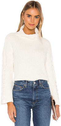 Bella Dahl Cable Sleeve Turtle Neck
