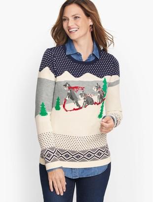 Talbots Super soft Sledding Dogs Sweater