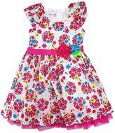 Nannette Toddler Girl Swiss Dot Floral Dress