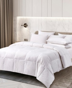Kathy Ireland Extra Warmth White Goose Feather and Down Fiber Comforter, King