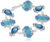 "Nine West Jewel Azure"" Silver-Tone/Blue Flex Bracelet"