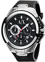 Armani Exchange Rubber  Stainless Steel Watch