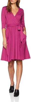 N. Hot Squash Women's False Wrap Fit Flare Dress