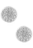 BETTINA JAVAHERI Round Pave Diamond Earrings