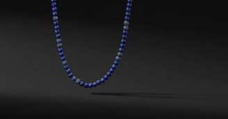 David Yurman Spiritual Beads Necklace With Lapis And Sapphires