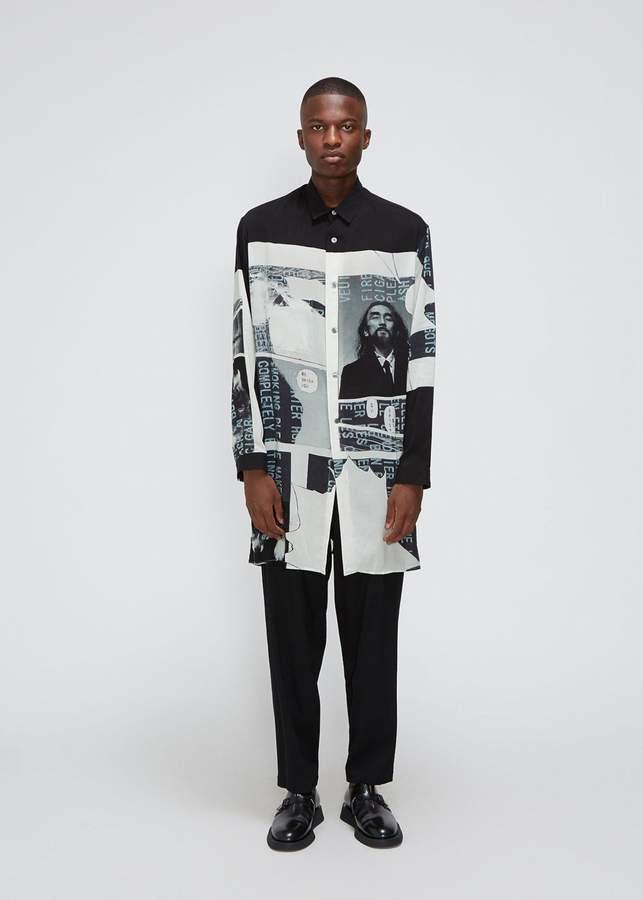 Yohji Yamamoto Side Button Printed Shirt