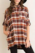 Entro Plaid Flannel Tunic