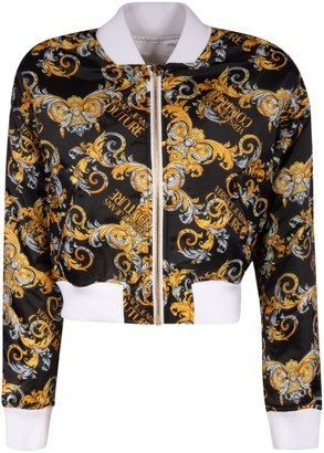 Versace Jeans Couture Cropped Length Printed Bomber