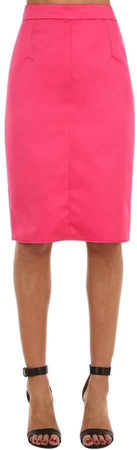 Techno Duchesse Pencil Skirt