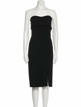 Alexis Strapless Mini Dress Black