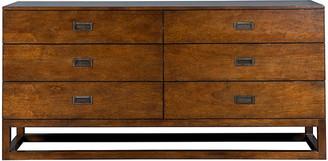 One Kings Lane Omni Dresser - Walnut - frame, walnut; hardware, bronze