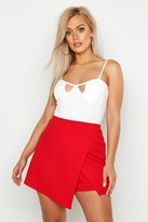 boohoo Plus Cross Over Split Skort