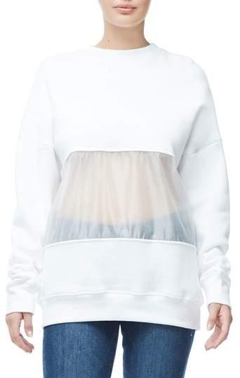 Good American Mixed Media Oversize Sweatshirt