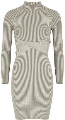 Dion Lee Sage ribbed jersey mini dress