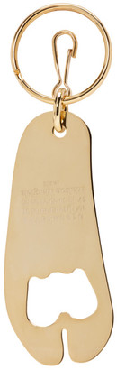 Maison Margiela SSENSE Exclusive Gold Tabi Bottle Opener Keychain