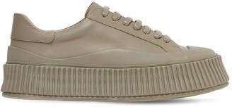 Jil Sander 40mm Leather Low Top Sneakers