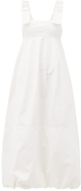 Lee Mathews - Frankie Canvas Apron Dress - Womens - Cream