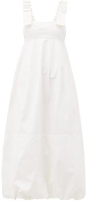 Lee Mathews Frankie Canvas Apron Dress - Cream