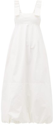 Lee Mathews Frankie Canvas Apron Dress - Womens - Cream