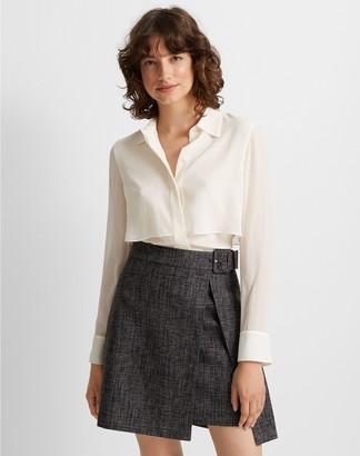 Club Monaco Wrap Mini Skirt