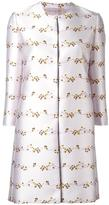 Giambattista Valli floral jacquard coat - women - Silk/Cotton/Polyamide/Viscose - 46