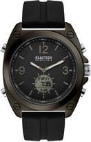 Kenneth Cole Reaction Men's Analog-Digital Sport Black Silicone Strap Watch 46mm