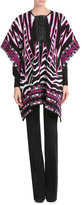 Emilio Pucci Wool and Mohair Cape with Leather