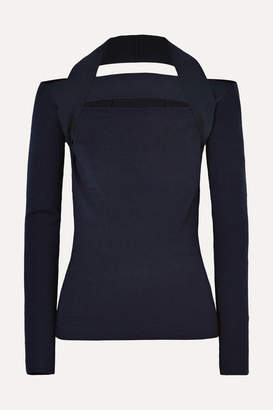 Dion Lee Cutout Merino Wool Sweater - Black