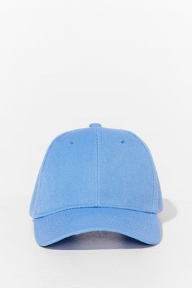 Nasty Gal Womens Come to a Head Corduroy Baseball Cap - Baby Blue