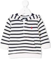 Ralph Lauren striped zip hooded sweatshirt