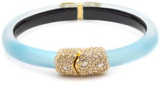 Alexis Bittar Crystal Encrusted Skinny Hinge Bracelet, Turquoise
