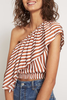 Faithfull The Brand Striped One Shoulder Top