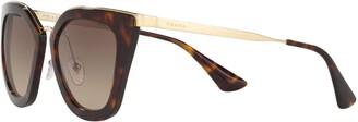 Prada PR 53SS Gradient Cat's Eye Sunglasses