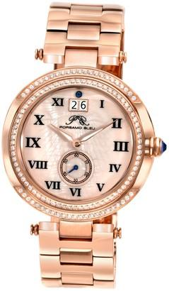 Women's South Sea Crystal Swarovski Crystal Accented Swiss Quartz Watch, 40mm