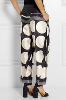 Stella McCartney Dante cropped printed satin wide-leg pants