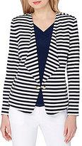 Tahari ASL Knit Striped Jacket