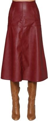 Johanna Ortiz Faux Leather Midi Skirt