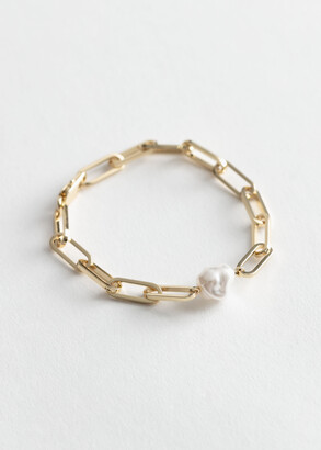 And other stories Pearl Pendant Chain Bracelet