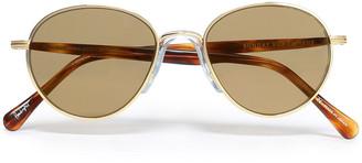 SUNDAY SOMEWHERE Aviator-style Gold-tone Sunglasses