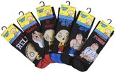 Family Guy - Mens 6 or 12 pack funny black crew calf socks