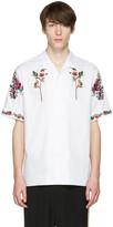 Gucci White Floral Bowling Shirt