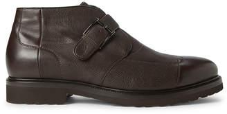 a. testoni A.Testoni Dark Brown Shearling-Lined Leather Boots