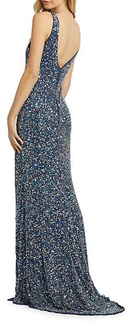 Thumbnail for your product : Mac Duggal Sequin-Embellished Sheath Gown
