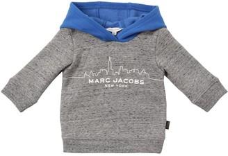 Little Marc Jacobs Skyline Print Cotton Sweatshirt Hoodie